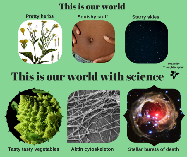 World with science