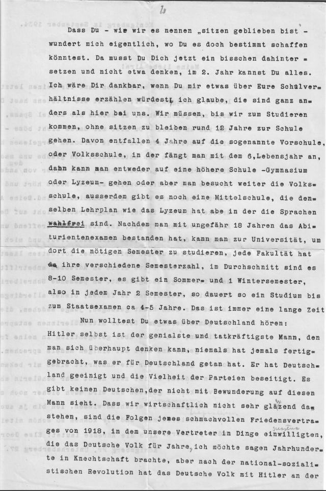 Christel Wenk letter September Königsburg 1