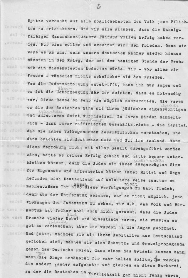 Christel Wenk letter September Königsburg 2